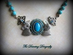 Springtime Turquoise Collage Series Pendant by dragonflysublime, $55.00