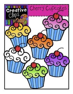 FREE Cupcake clipart! Personal and commercial use allowed! Enjoy! Creative Clips by Krista Wallden