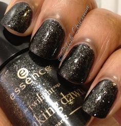 Essence - Edward's Love..I don't like twilight...but I LOVE black glitter.