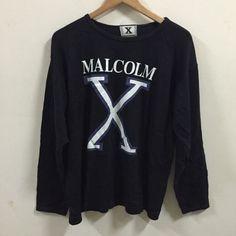 Vintage original 90s Malcolm X Bety Shabazz Hip Hop rap Screened L TEE t shirt    eBay