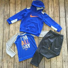 """""""#NEWARRIVALS  #Nike #ThermaFit #Hoodie $38.00 2T-7 #Longsleeve #Top $28.00 2T-5 #Sweatpants $38.00 2T-5 We #ship! Call to order! 903.322.4316 #shopdcs #goshopdcs #instashop #shopfall #boy #allboy #love"""" Photo taken by @daviscountrystore on Instagram, pinned via the InstaPin iOS App! http://www.instapinapp.com (10/09/2015)"""