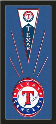 Texas Rangers Wool Felt Mini Pennant & Texas Rangers Team logo Photo - Framed With Team Color Double Matting In A Quality Black Frame-Awesome & Beautiful-Must For A Championship Team Fan! Most NFL, MLB, NBA, Teams Available-Plz Mention In Gift Message If Need A different Team Art and More, Davenport, IA http://www.amazon.com/dp/B00I1BWIAK/ref=cm_sw_r_pi_dp_FvtEub1RE2PGK