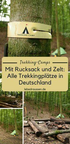 Mit dem Zelt zu wandern, lässt das Outdoor-Herz höher schlagen. Nur: wo soll man in Deutschland übernachten, wenn man keine Lust auf volle und laute Campingplätze hat? Trekking-Camps bzw. Trekkingplätze sind die ideale Lösung für naturnahes Wandern in der Heimat. #wandern #hiking #trekking #wanderlust #deutschland #reise #reisen #urlaub #aktivurlaub #outdoor #outdoors #zelt #rucksack #pfalz #rlp #bayern #eifel #soonwald