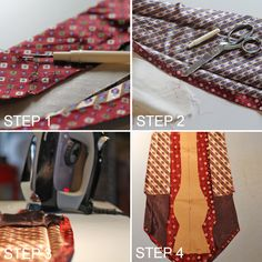 Step by step - Dapper DIY: Turning Two Dated Old Ties Into One Reversible Bow Tie