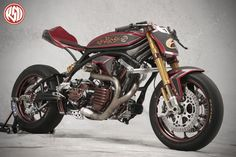 No Regrets - Roland Sands Design Cafe Bike, Cafe Racer Motorcycle, Motorcycle Clubs, Motorcycle Parts, Custom Harleys, Custom Motorcycles, Custom Bikes, Custom Cars, Sidecar