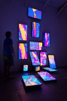 Available for sale from Catharine Clark Gallery, Kevin Cooley, Fallen Water Multi-channel video installation Code Art, Video Installation, Digital Signage, Aesthetic Room Decor, Exhibition Space, Stage Design, Experiential, New Media, Design Art