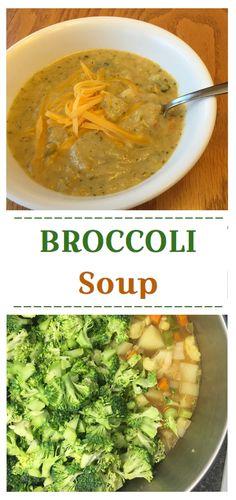 A warm, cheesy, creamy, lightened up broccoli soup.