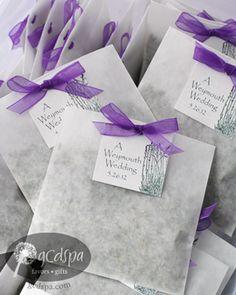 lavender favors - glassine bags & ribbon