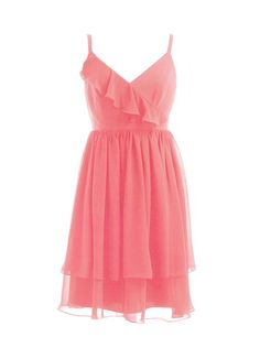 #coral #bridesmaid #dress for #2015 #spring #summer #wedding, RBD178 / £59, #custom #made at #RedBD