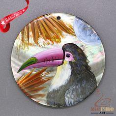 Longirostravis Pendant Wild animals Bird Hand Painted ZL303247 #ZL #Pendant