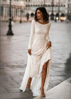 Jade Dress - Boho Wedding Dress, Indie Wedding Dress, Hippie Wedding Dress, Modest Wedding Dress, Long Sleeve We - Indie Wedding Dress, Long Wedding Dresses, Bridal Dresses, Wedding Gowns, Wedding Venues, Maxi Dresses, Wedding Ceremony, Unique Wedding Dress, Bridesmaid Dresses