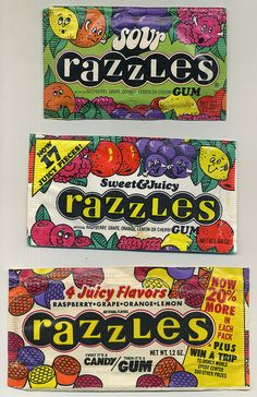 an assortment of Razzles the packs just kept getting smaller and smaller - Chewy Candy - Ideas of Chewy Candy Retro Candy, Vintage Candy, Vintage Toys, 1970s Candy, My Childhood Memories, Childhood Toys, Great Memories, Old School Candy, Before I Forget
