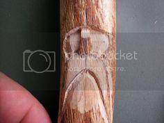 Wood Spirit Carving Tutorial (very pic heavy) Simple Wood Carving, Wood Carving Faces, Dremel Wood Carving, Wood Carving Designs, Wood Carving Patterns, Wood Carving Art, Wood Art, Whittling Projects, Whittling Wood