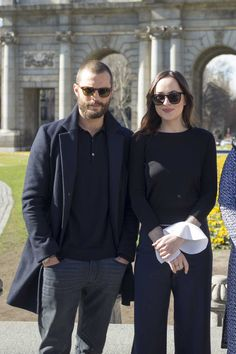 Dakota Johnson & Jamie Dornan at #FiftyShadesDarker photocall in Madrid on Feb 8