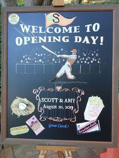 Vintage Baseball Wedding Welcome to Opening Day