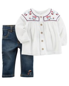 Baby Girl 2-Piece Embroidered Tunic
