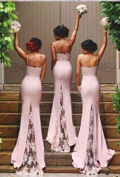 Sweetheart Bridesmaid Dresses with Lace Appliques, Pink Lace Bridesmaid Gowns with Sweep Train, Latest Mermaid Bridesmaid Dress, from VanessaWu Bridesmaid Dresses sexy bridesmaid dresses Lace Bridesmaids Gowns, Light Pink Bridesmaid Dresses, Bridesmaid Outfit, Wedding Bridesmaids, Wedding Dresses, Backless Bridesmaid Dress, Lace Mermaid, Mermaid Dresses, Dresses Dresses