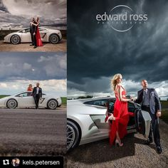 These photos of our couple that @edwardross snapped looked like they could be straight out of a magazine! Loving those dramatic skies!! #Repost @kels.petersen When you think a thunder/hail storm during your engagement pictures is disastrous but then your photographer pulls off the most incredible photos... Edward Ross you are an artistic genius!! Dress: BCBG Shoes: @louboutinworld #yyc #yeg #engagement #photoshoot #lamborghini #wedding #weddingphotographer #exoticcars