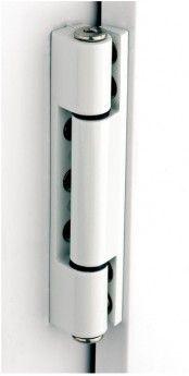 UPVC Butt Door Hinge - Angled & Flat - White.  Much better looking than flag type hinge!