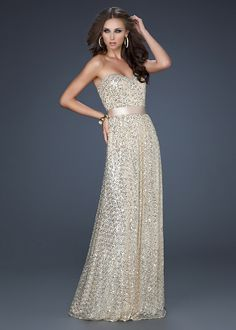 La Femme 17059 Light Gold Strapless Evening Gown [La Femme 17059] - $179.00 : Being Queen,Formal Occasion Dress Sale At Promqueen.net!