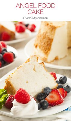 Angel Food Cake - this recipe gives you a light, fluffy, (almost) fat-free cake that goes perfectly with just about any kind of berry and some fresh whipper cream. Divine. and perfect for a light birthday cake.