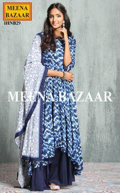 Blue Dulhan Dress, Pakistani Dresses, Indian Dresses, Indian Outfits, Indian Attire, Indian Ethnic Wear, Burgundy Quinceanera Dresses, Beautiful Suit, Desi Wear