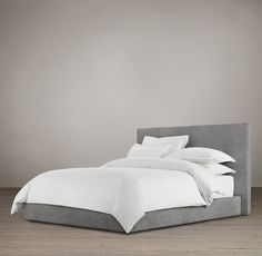 """Restoration Hardware - Sullivan Upholstered Platform 46"""" Bed - I absolutely love that the bed low to the ground!"""
