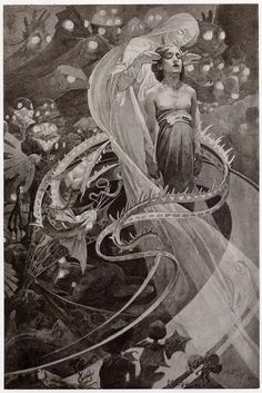 Check out Art Nouveau illustrator Alphonse Mucha's beautiful occult-inspired art from the turn of the century, which drew on themes from Kabbalah and magick