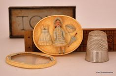 Renee Delaney, Miss Lavender's Memories - tiny doll complete with extra dress, parasol and hat - truly special