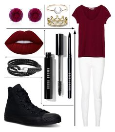 """""""Untitled #168"""" by shamelessreject on Polyvore featuring Converse, CARAT*, Bobbi Brown Cosmetics, Lime Crime, Bling Jewelry, I+I and Erica Courtney"""