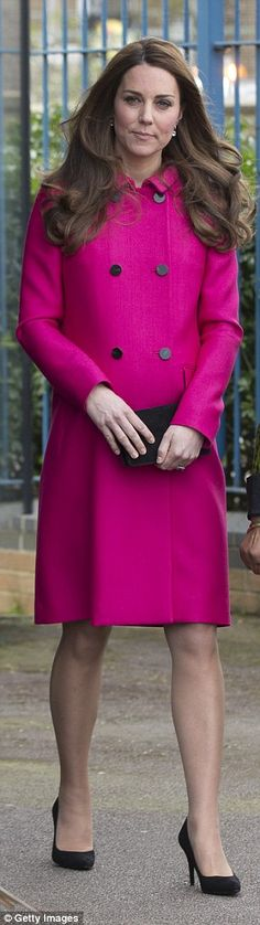 The Duchess of Cambridge pictured in March 2015 when she was eight months pregnant with Pr... #katemiddleton