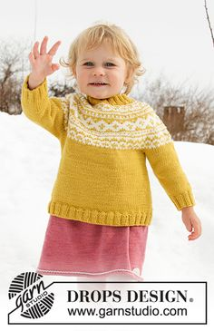 Little Missy / DROPS Children - Free knitting patterns by DROPS Design Historia dziania Baby Knitting Patterns, Free Baby Patterns, Knitting For Kids, Free Knitting, Drops Design, Crochet Baby, Knit Crochet, Handgestrickte Pullover, Double Pointed Knitting Needles