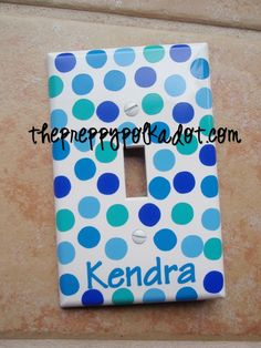 Personalized Polka Dot Light Switch Cover-personalized light switch cover