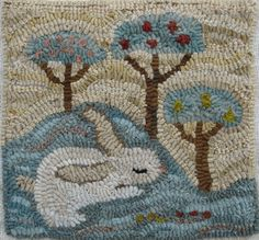 Bunny Lullaby By Marijo Taylor Pattern Only Or Complete Rug Hooking Kit Penny