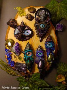 Evil eye pendant Mermaid jewelry Fantasy Creatures Natures Jewelry Purple necklace Seashell necklace Kids jewelry Unique jewelry Amethyst #jewelrynecklaces
