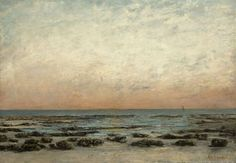 Gustave Courbet, The Shore at Trouville: Sunset Effect, 1866