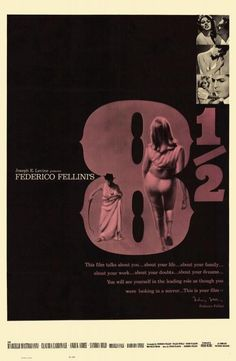 """James Hancock on Twitter: """"Beautiful poster for a beautiful movie, """"8 1/2"""" (1963) from director Federico Fellini. http://t.co/bsEvJeMpU5"""""""