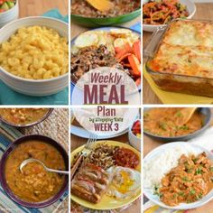 Slimming Eats Weekly Meal Plan - Week 3 - Slimming World