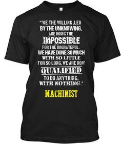 class graduation t-shirts!Machinist - Qualified