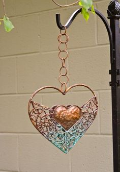 Copper Heart Bird Feeder-this is kinda awesome! Be patient when it seems things are not going right and may never be right again. Accept that what is yours will come to you in the right way at just the right moment. Hey, I found this really awesome Etsy l I Love Heart, Key To My Heart, Happy Heart, Heart Art, Love Symbols, Wire Art, Wire Jewelry, Heart Jewelry, Jewlery