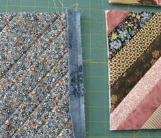 Quilt As You Go: sewing blocks together