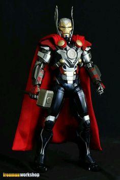Iron Thor Marvel Iron Man Avengers, Avengers Age, Dc Comics Vs Marvel, Marvel Art, Marvel Heroes, Thor Marvel, Iron Man Wallpaper, Iron Man Suit, Iron Man Armor