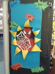 super hero classroom door - Google Search