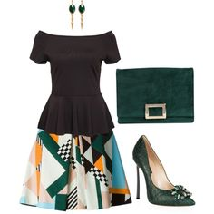 Untitled #4 by genevieve-beaudreuil on Polyvore featuring VILA, MSGM, Casadei, Roger Vivier and Ela Stone