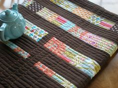 machine quilt one direction and the hand quilt the other direction-