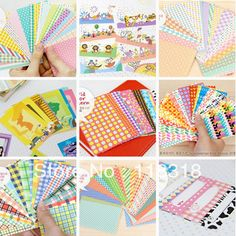 All Goods Price are $3,(1 Lot =40 Sheets) 9 Different Styles DIY Scrapbook Paper Photos frame decorative stickers Free Shipping-inMemo Pads from Office & School Supplies on Aliexpress.com