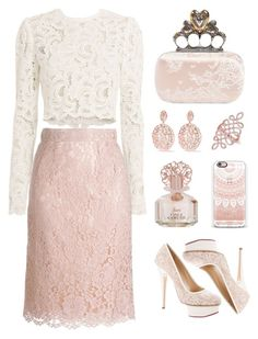 All Lace by pink-quartz on Polyvore featuring polyvore A.L.C. Dolce&Gabbana Charlotte Olympia Alexander McQueen Aurélie Bidermann Anne Sisteron Casetify Vince Camuto fashion style clothing