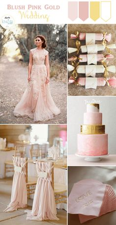 BLUSH PINK & GOLD - Top Color Inspiration Boards of 2015 - KnotsVilla