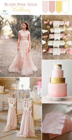 Blush Pink Gold Wedding Inspiration » KnotsVilla