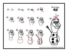 How to draw olaf my sis is going to freak when I tell her I know how to draw olaf!!